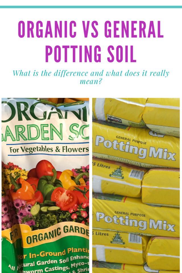 Organic potting soil vs potting mixtures