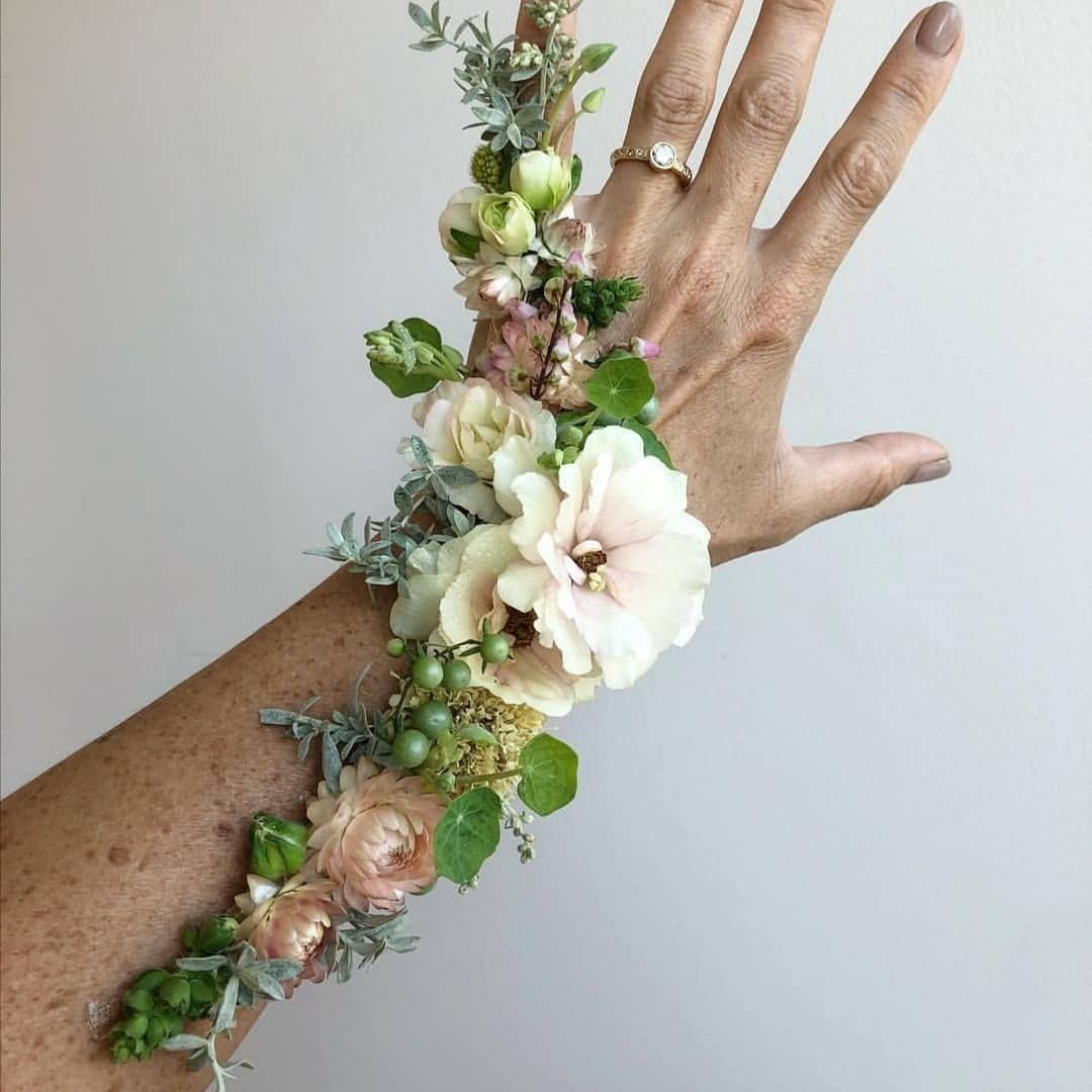 1 649 Likes 34 Comments Master Florist Masterflorists On Instagram What S Your Favorite Flower Tattoo Masterpiece Floral Fairy Arm Cuff Flower Dance