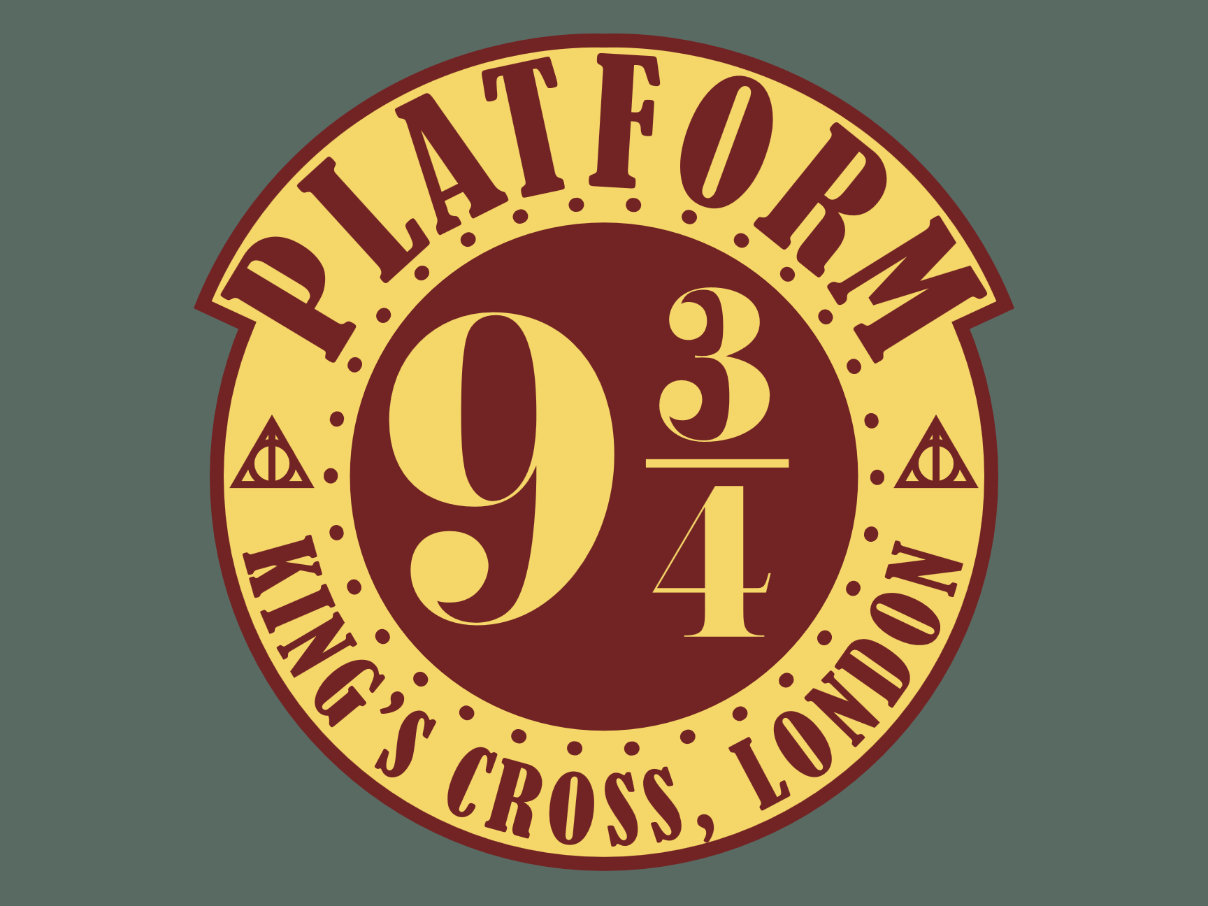 Harry Potter 9 and 3/4 vector badge created in Adobe