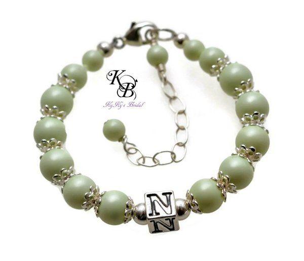 Personalized Flowergirl Bracelet, Choice of Colors, Pastel Bracelet, Flowergirl Gift, Personalized Jewelry, Little Girl Bracelet, Gift | KyKy's Bridal, Handmade Bridal Jewelry, Wedding Jewelry