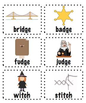 Worksheet Tch Words words with ch and j tch dge activities reading passages