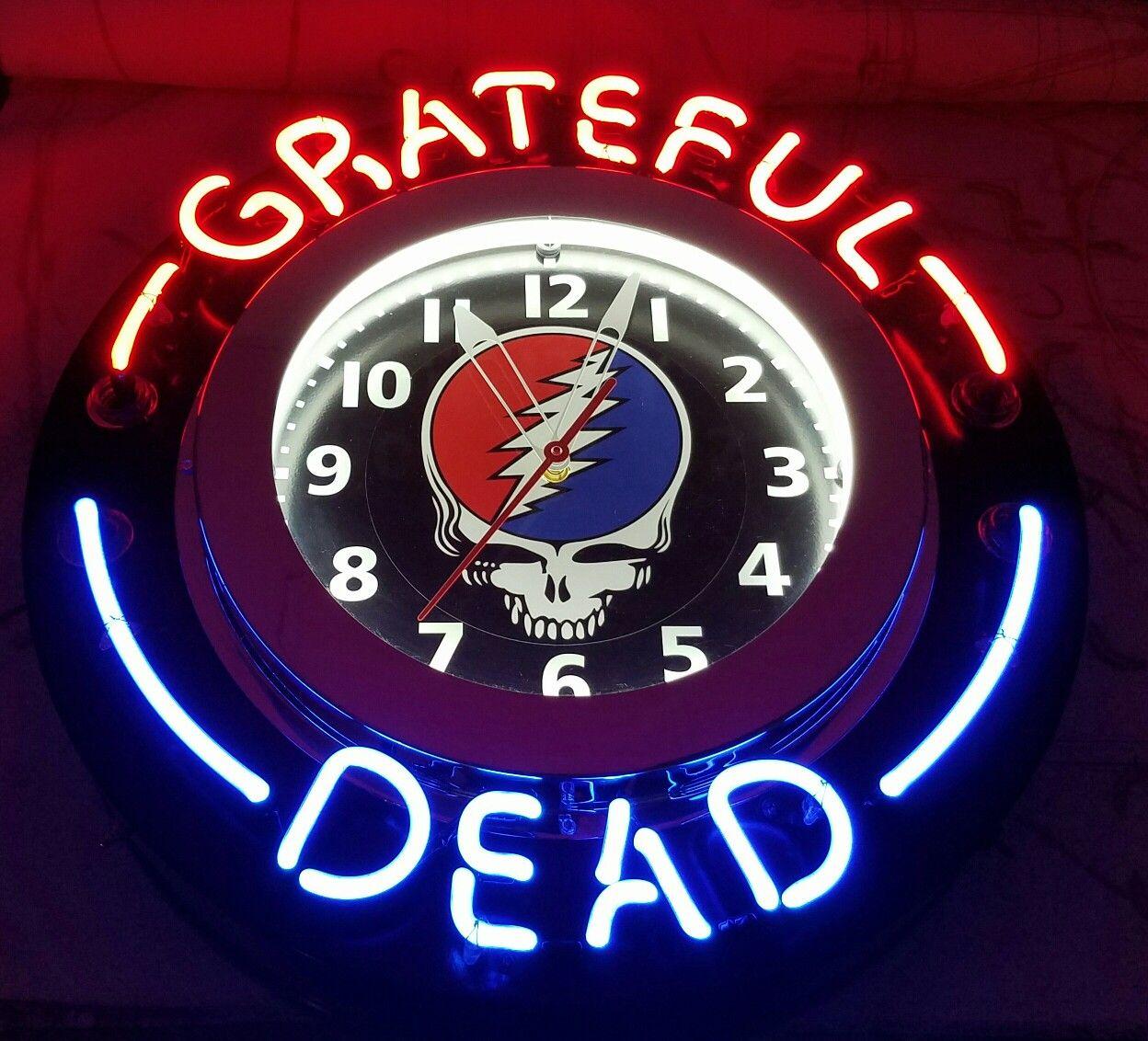 Grateful Dead Neon clock Neon clock, Clock, Neon signs
