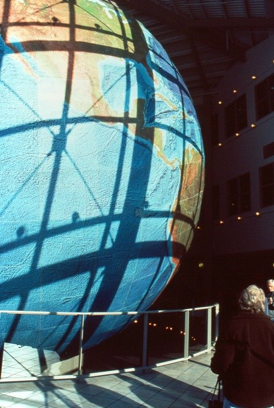 Say o to the world's largest and rotating globe! Located in ... Delorme Mapping on