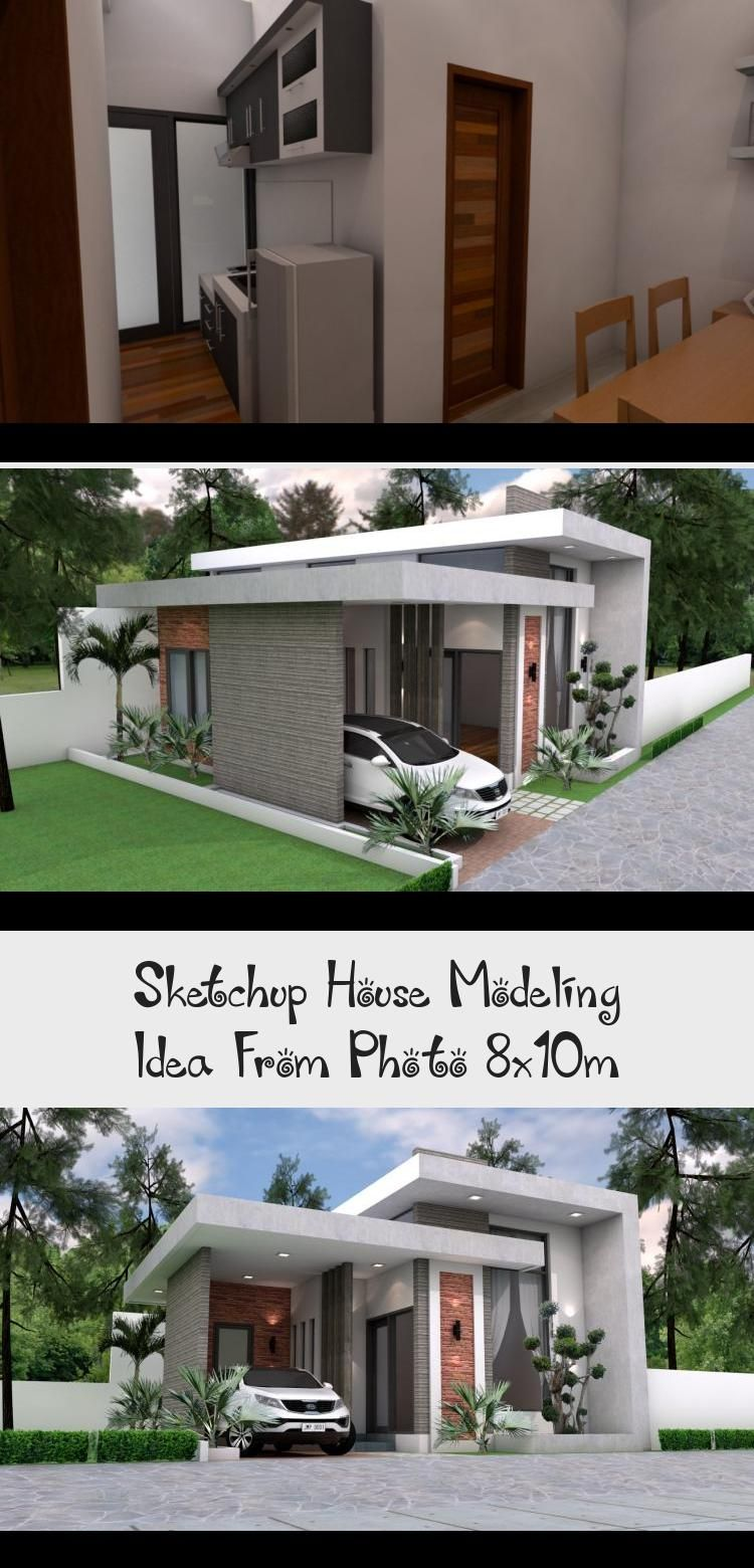 Sketchup House Modeling Idea From Photo 8x10m In This Video I Am