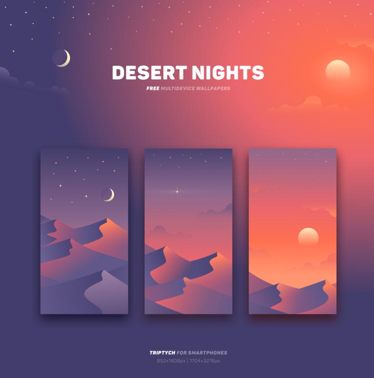 Desert Nights Free Wallpaper Hd Graphic Design Tools Tool