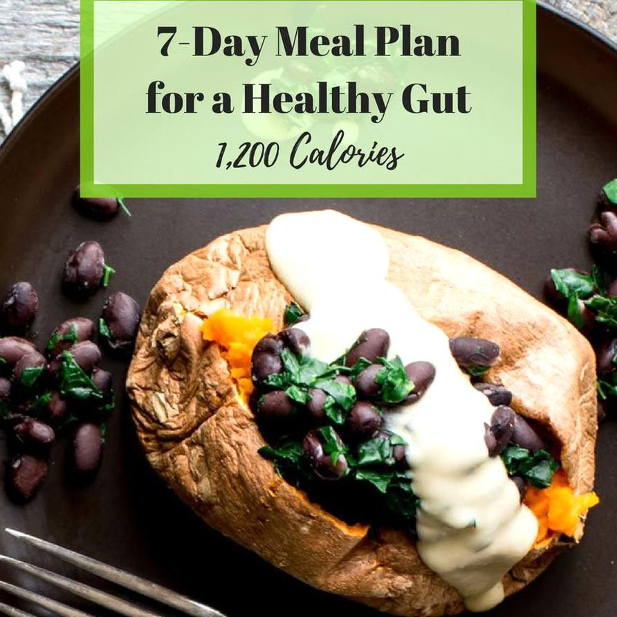 7day meal plan for a healthy gut 1200 calories