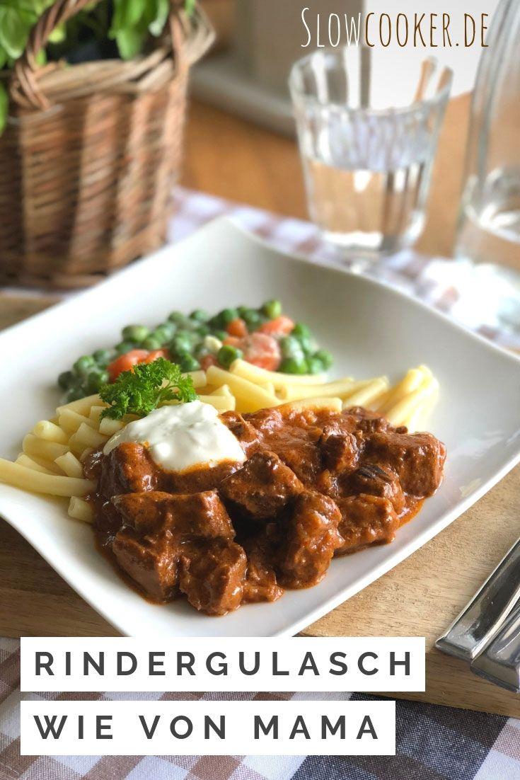 Aus dem Crock-Pot Express: Mamas Schnellgulasch #spitzkohlrezeptehackfleisch