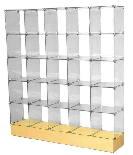 Glass Cube Display Unit Glass Store Display Stand Glass Shelves