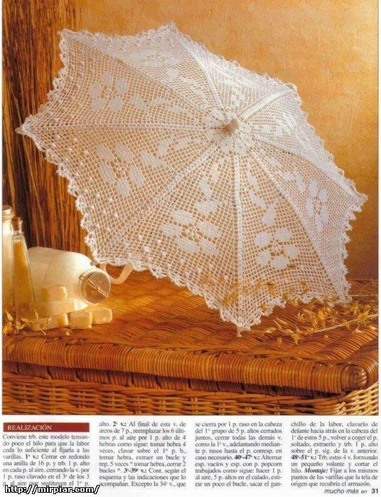 Fantastic page of crocheted parasols AND PATTERNS! In Russian ...