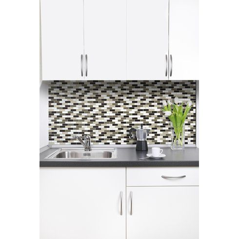 "Peel And Stick Decorative Wall Tile Trim Smart Edge 027"" X 18"" Peel & Stick Finishing Trim In Bronze"