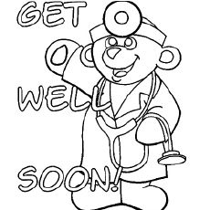 kids get well coloring pages - photo#22