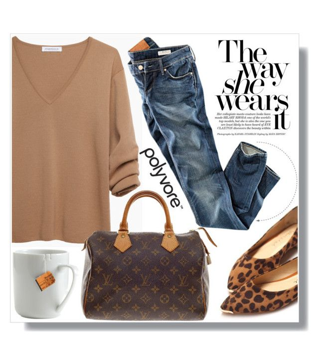 Camel Sweater by myfashionwardrobestyle on Polyvore featuring polyvore, moda, style, J.W. Anderson, H&M, Nancy Gonzalez and le mouton noir & co.