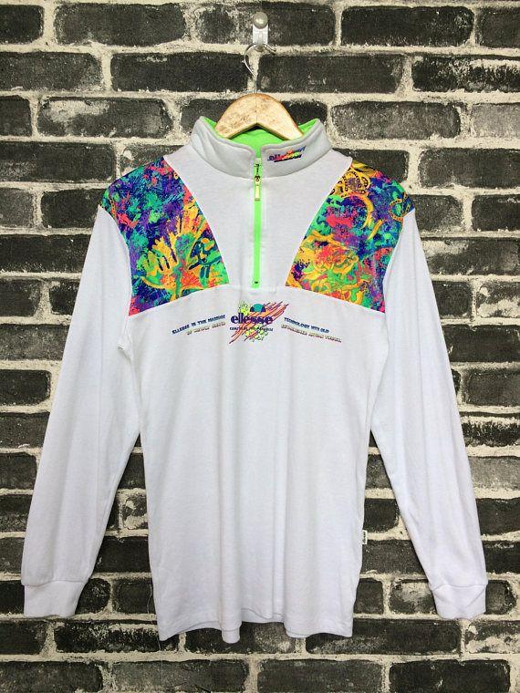 b2c7726d Vintage Ellesse Sweater Jumpsuit Training Track Rainbow Colour ...