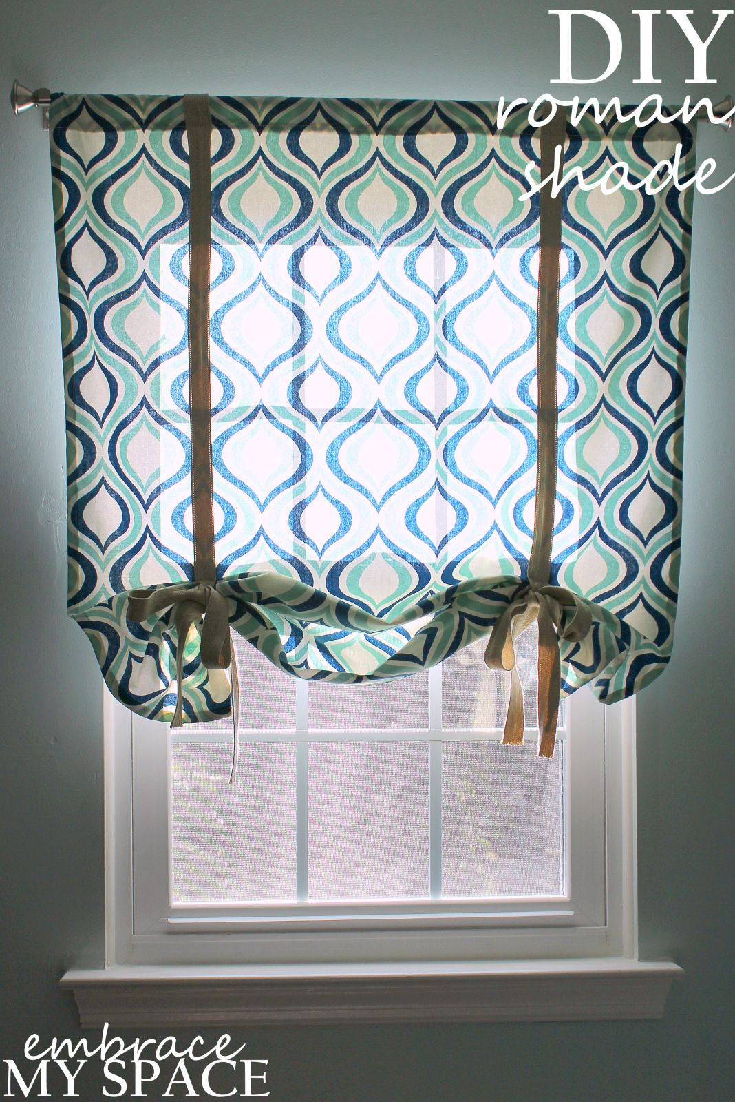 Why buy when you can diy a simple roman shade diy u useful stuff