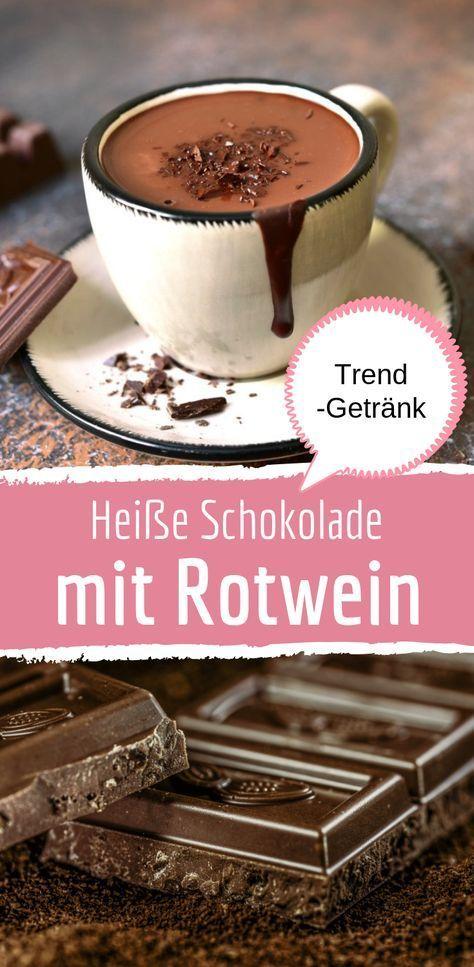Heiße Schokolade mit Rotwein #beverages