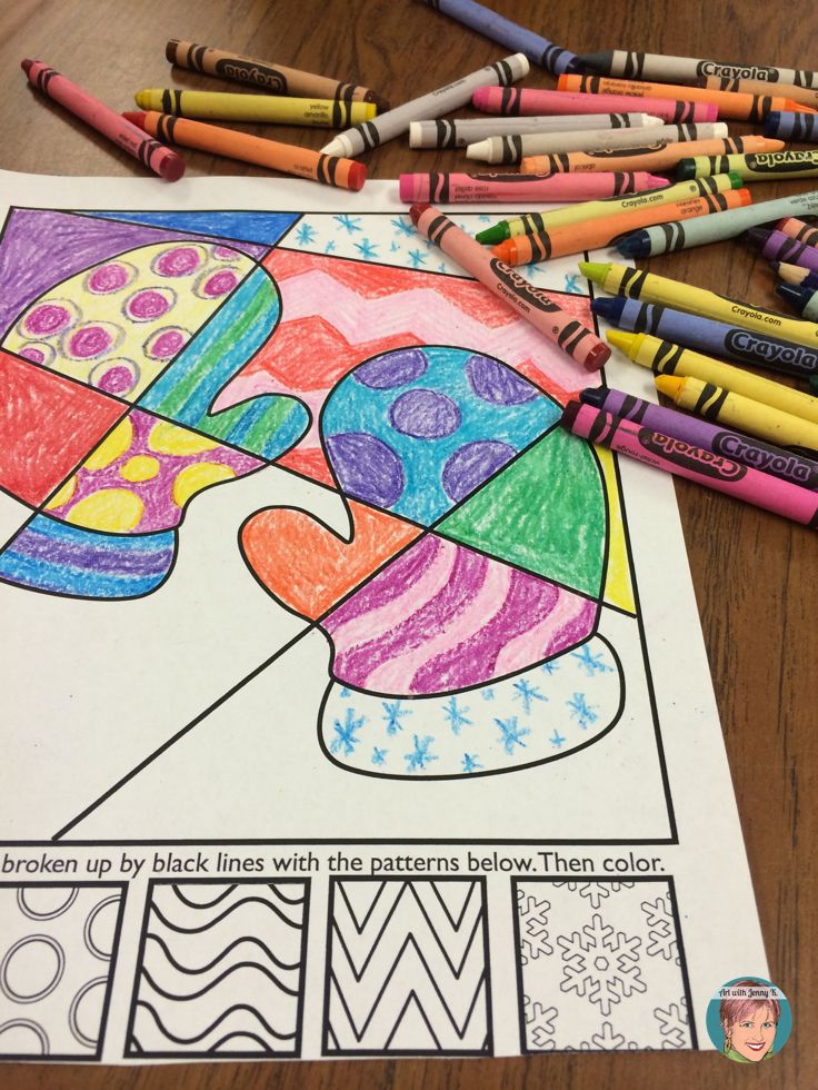 Winter Activities: Interactive and Pattern Filled Coloring ...