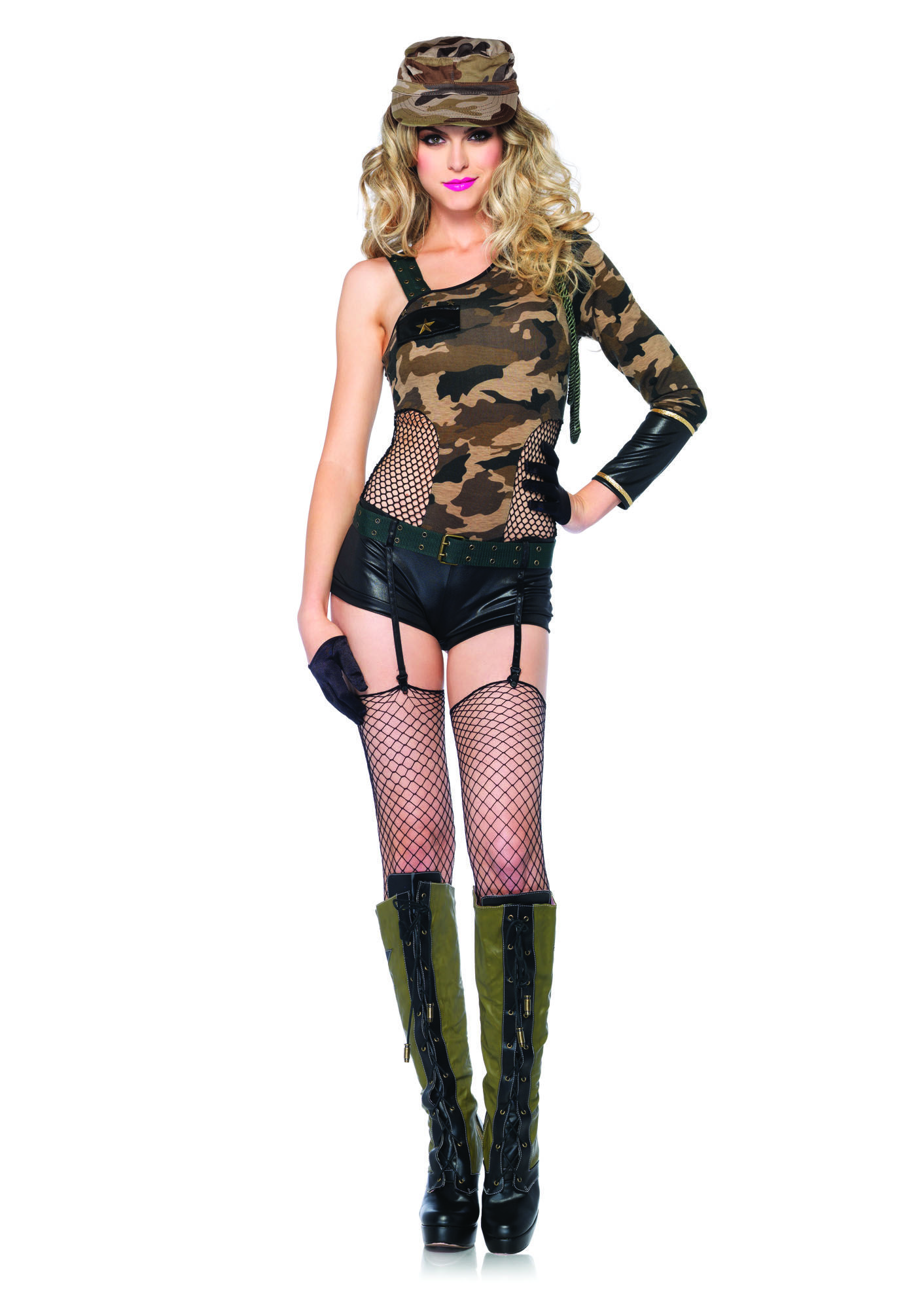 Youu0027re fierce fashionable and ready for action in our Camo Doll Army Costume! This Camo Doll Army Costume for women features a camo romper matching hat ...  sc 1 st  Pinterest & Camo Doll Army Costume | Womenu0027s Costumes | Pinterest | Army costume ...