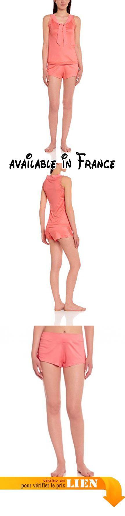 Le Chat - Happy 500 - Ensemble De Pyjama - Dentelle - Synthétique - Femme - Orange (Corail) - Fr : 42.  #Apparel #SLEEPWEAR