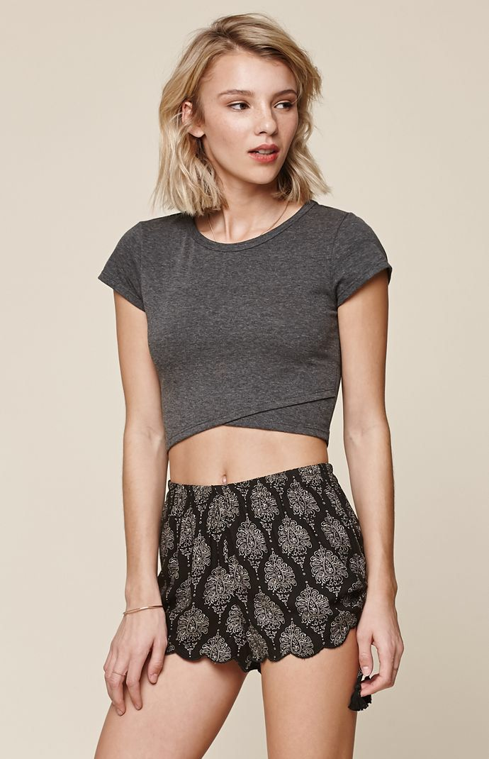 Hooked on Wrap Cropped TShirt that I found on the PacSun