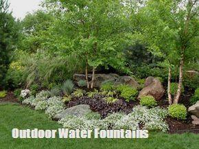 Outdoor Water Fountains -DIY Landscape Design & Backyard Ideas #hof garten, Ideas To Make Your Own Outdoor Water Fountains #fountaindiy