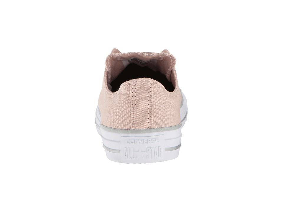 18a6d6a74d7d60 Converse Chuck Taylor(r) All Star Tipped Metallic Toecap Ox Women s Classic  Shoes Particle Beige Silver White
