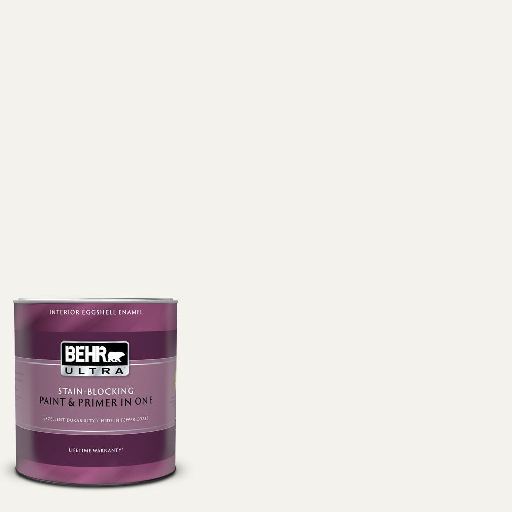 Behr Ultra 1 Qt Pr W14 Bit Of Sugar Extra Durable Eggshell Enamel Interior Paint Primer 275004 The Home Depot In 2021 Interior Paint Behr Ultra Exterior Paint