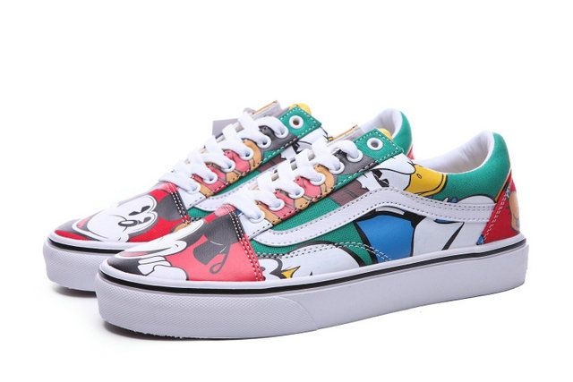 40f1c810553 Newest Mickey Vans Disney Old Skool Colorful Canvas Off The Wall Skate Shoes   S5082107  -  39.99   Vans Shop