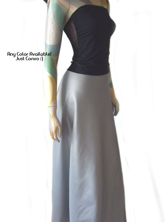 Long Skirt Silver Gray Taffeta Evening Maxi by EKshop, $89.99 | i ...