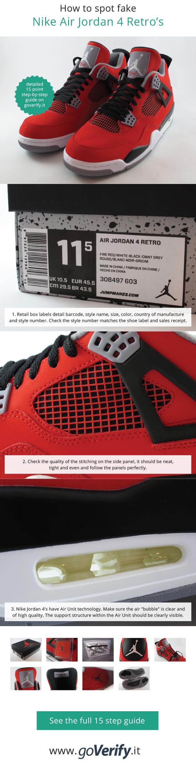 Pin On How To Spot Fake Air Jordan S