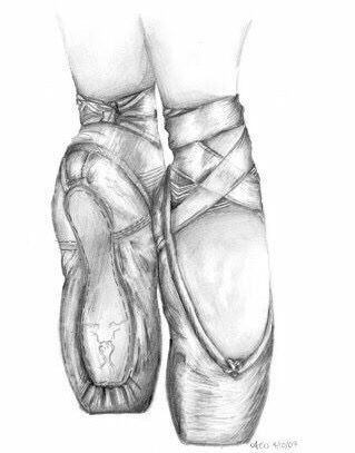 Drawing of ballet slippers | vivien | Pinterest | Dibujo, Zapatillas ...