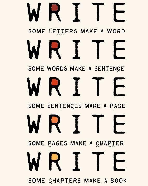 write write write typographic print book writers motivation