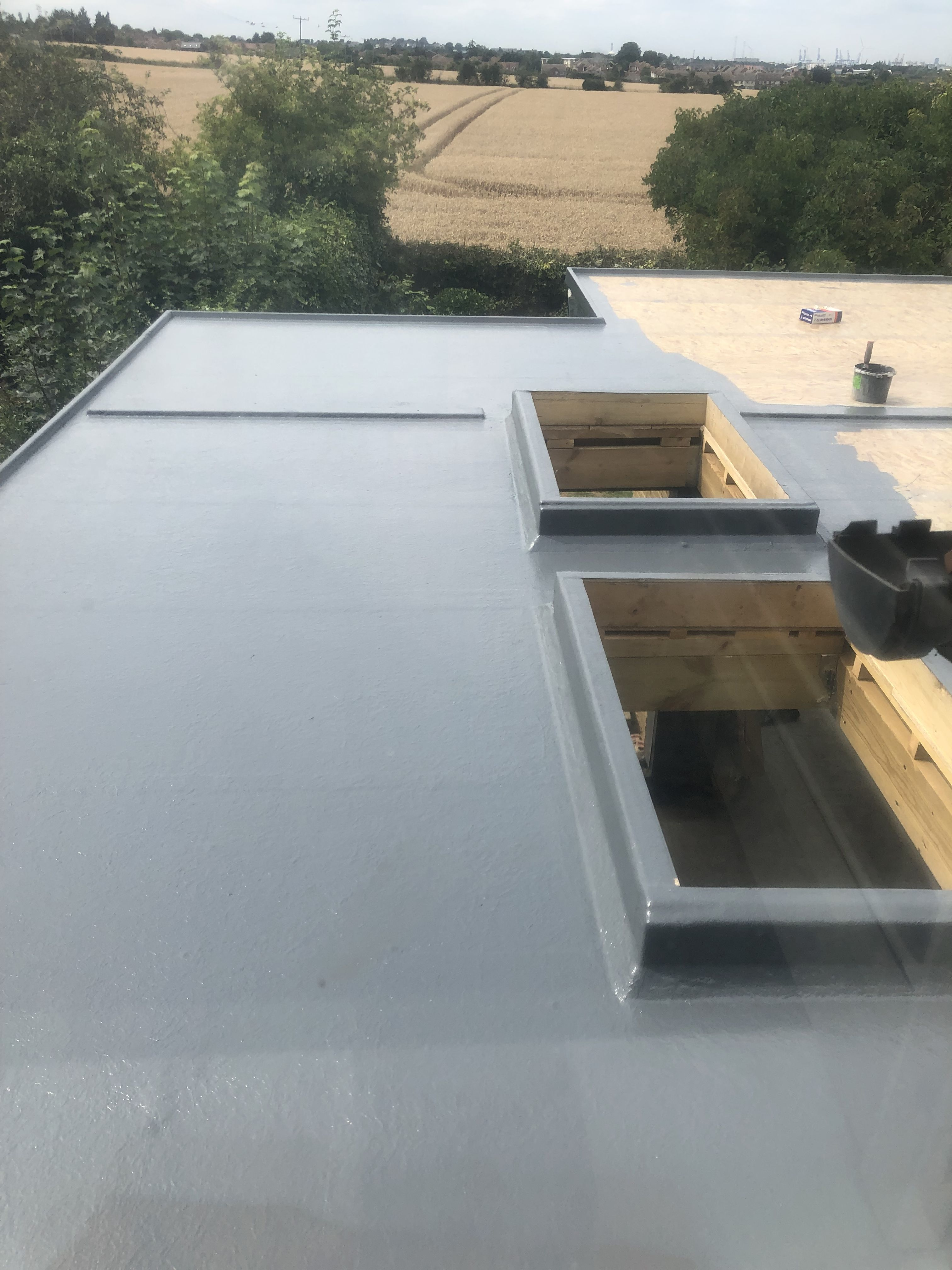 Fibre Span Fibre Glass Roofing At A House In Chalk Kent Roof Lantern Glass Roof Roofing