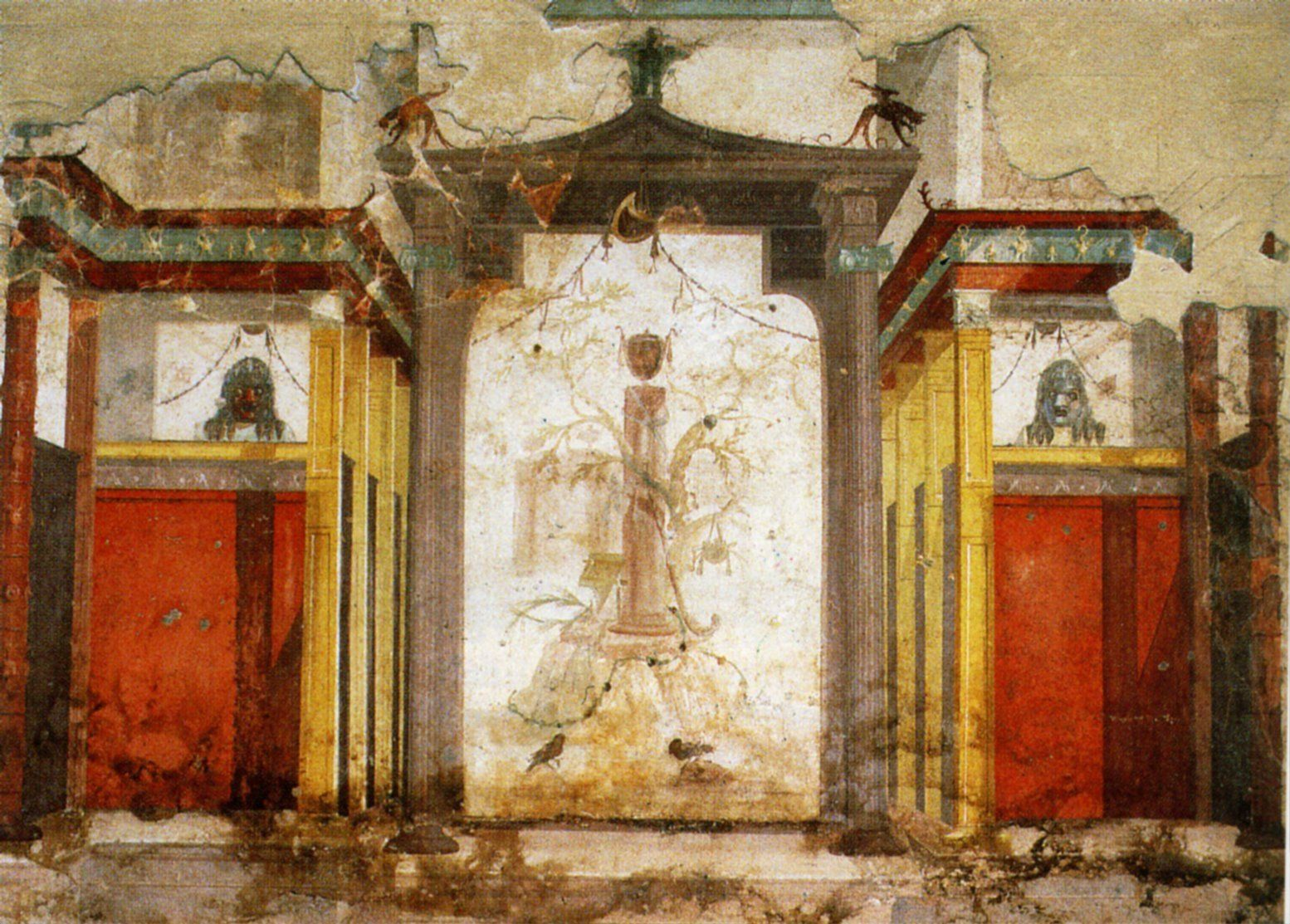 Peinture Murale Du Second Style Maison D Auguste Rome Mural Of The Second Style House