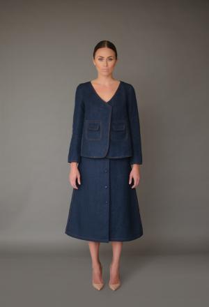 Industrial Prairie / Convent Style: Belle Denim Jacket and Jane Skirt