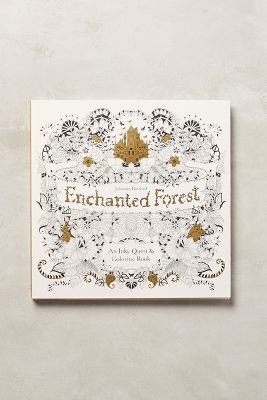 Anthropologie Enchanted Forest Coloring Book