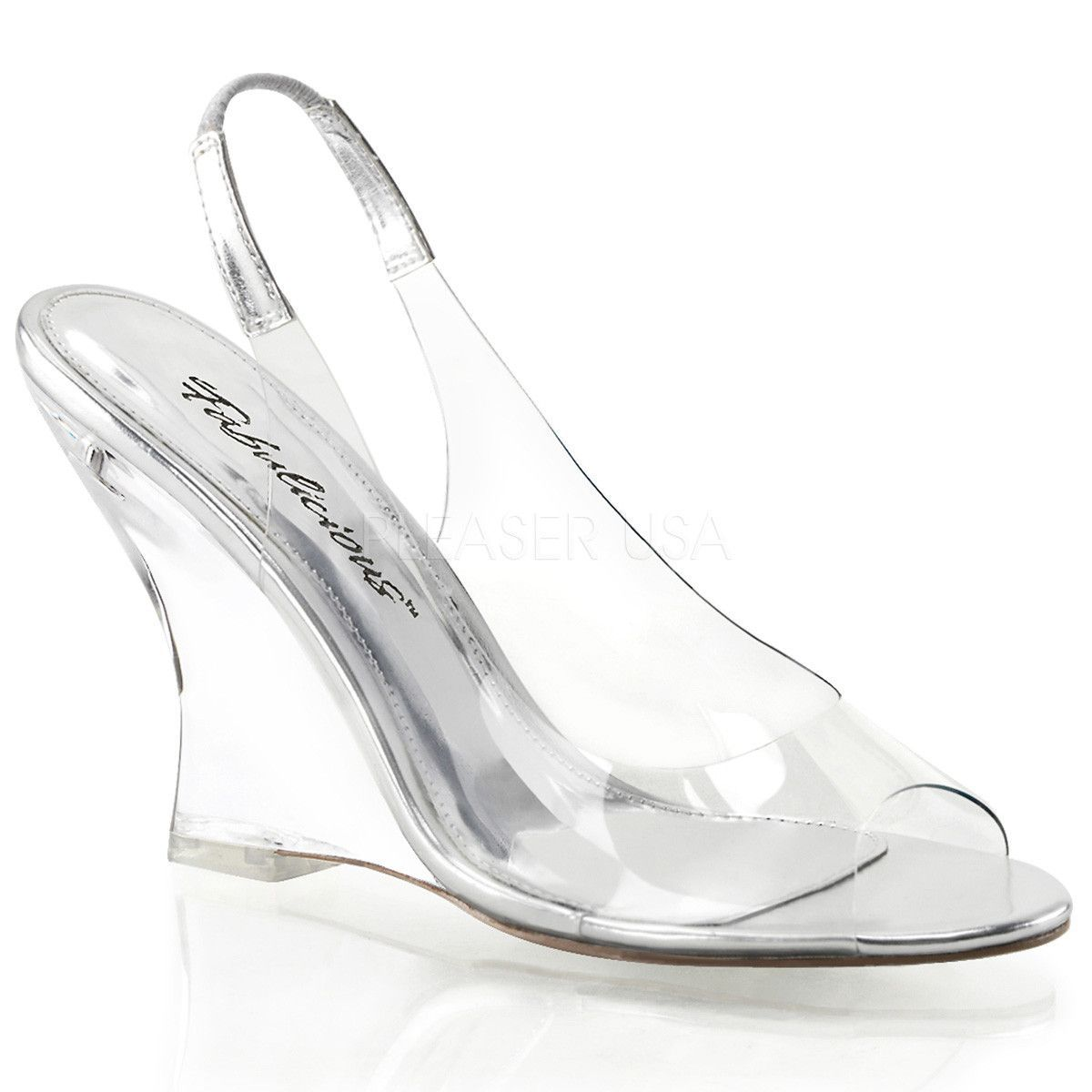 "FABULICIOUS Lovely-401RS 4/"" Wedge Party Prom Bridal Slide Sandal"