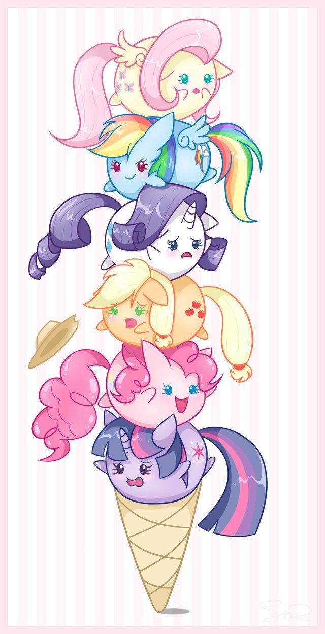 Ice Cream Ponies by *steffy-beff on deviantART