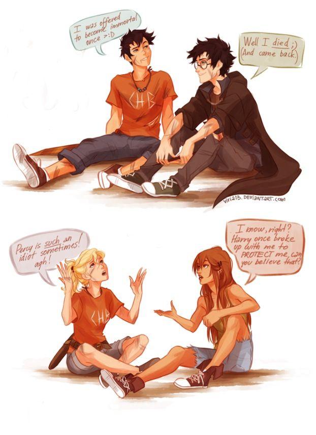 Percy Jackson And Harry Potter Art Viria Percy Jackson Fan Art Percy Jackson Percy Jackson Memes