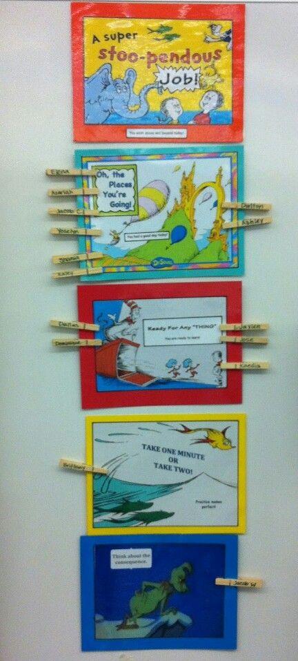 Classroom Party Ideas For Good Behavior : Dr seuss behavior chart classroom ideas pinterest