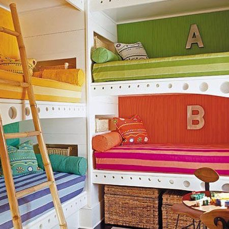 Pin By Geneva King On Bedroom Makeover Bunk Beds Built In Built In Bunks Kids Rooms Shared