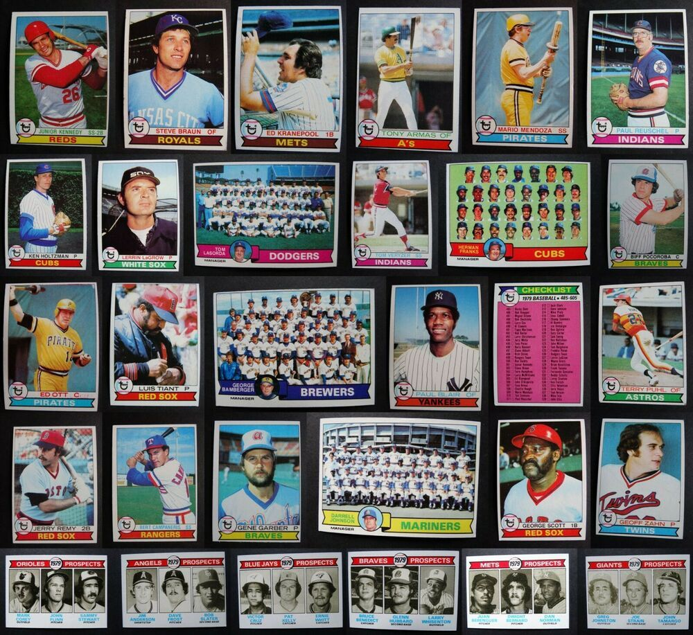 1979 topps baseball cards complete your set u you pick