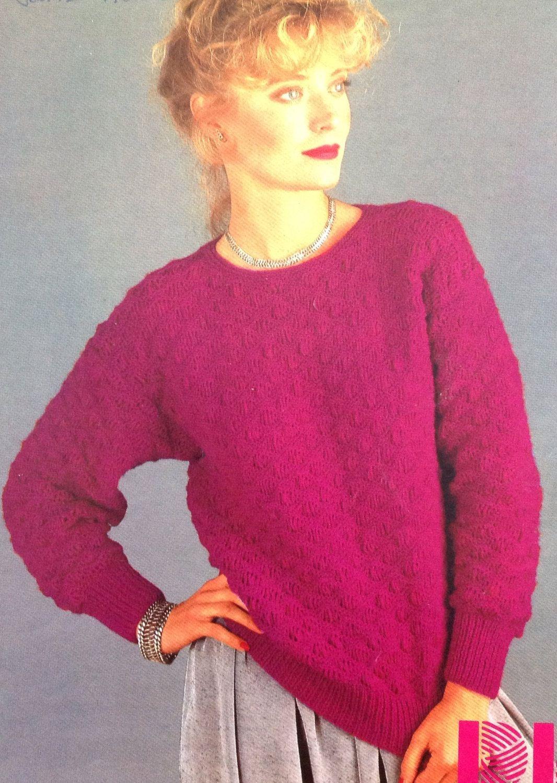 ca9c273ec20cb2 Ladies DK Jumper  Sweater Knitting Pattern size 32-38in 81-97cm by  makenshare on Etsy