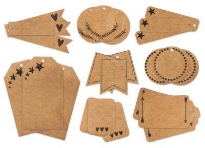 "Kraftpapier-Tags ""Weihnachten"", braun, 4 - 8 cm, 24 Stück € 3,95"