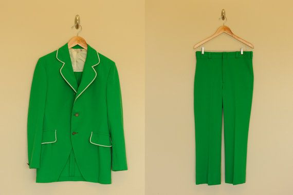 Vintage Men's Green Polyester Suit from SPEBSQSA (Barbershop Harmony Society)