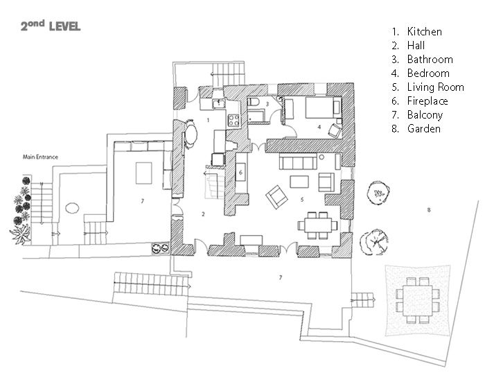 House plans tinos house greek villa for rent greek villa for Greek house plans