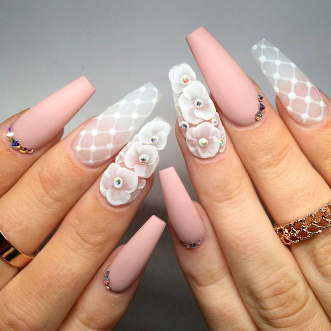 Gorgeous Nails, Beautiful Nail Art, Nude Nails, Coffin Nails, Matte Nails, - 27 Coffin Nails Design Ideas To Consider For Your Next Mani Καλό