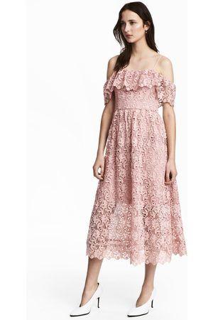 3e3affc504d Women Midi Dresses - H M Off-the-shoulder lace dress