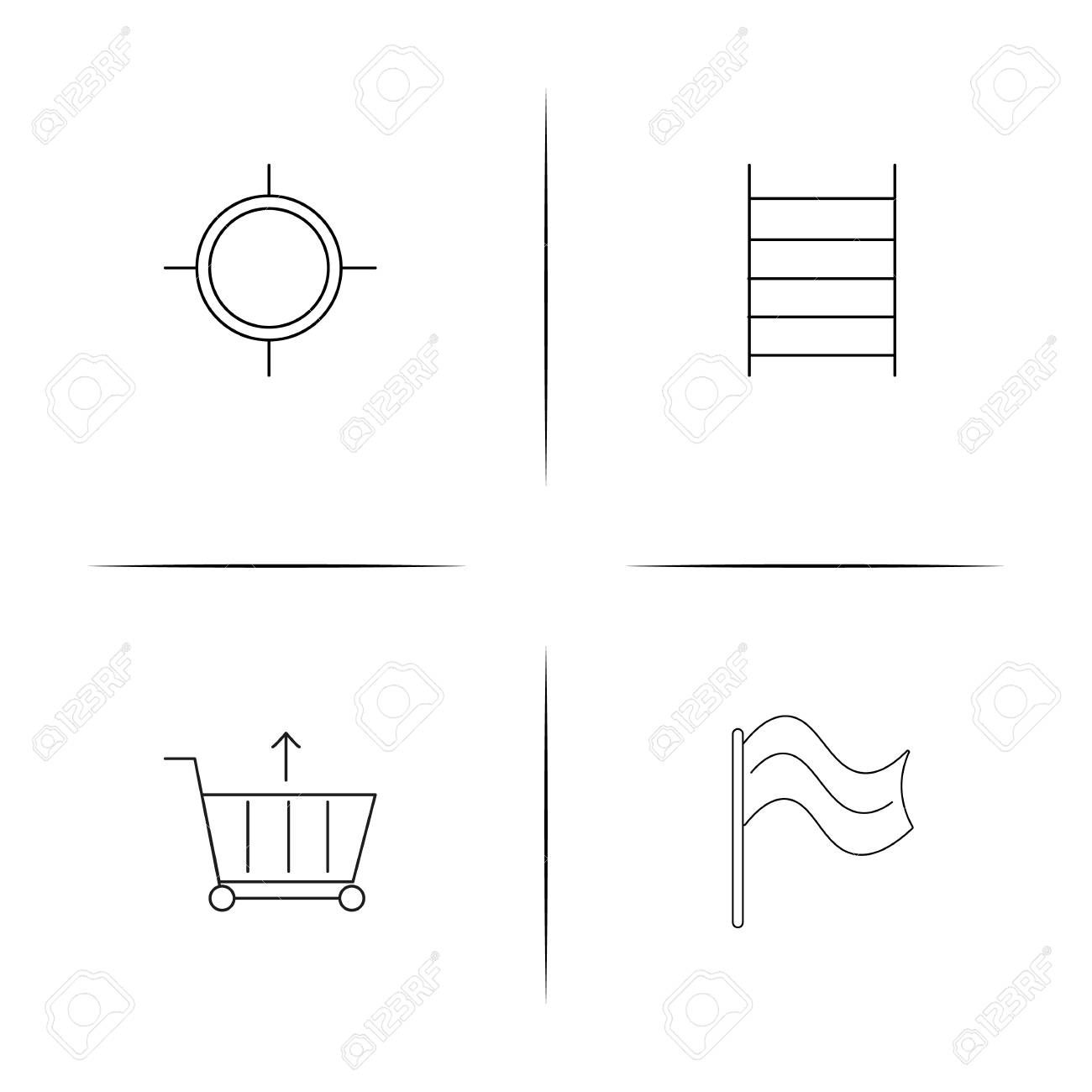 Sport Fitness And Recreation simple linear icons set. Outlined vector icons Illustration , #affiliat...