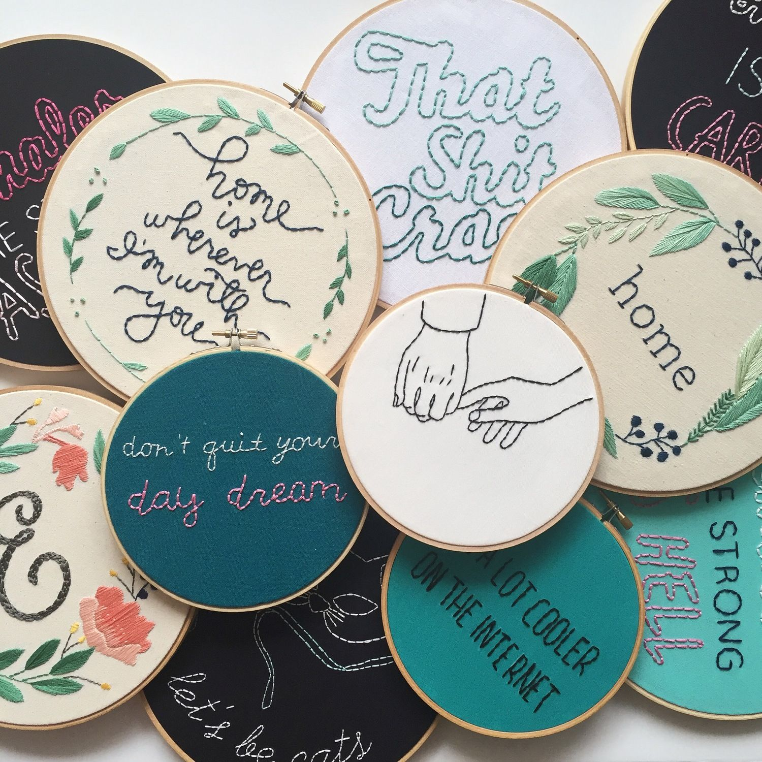 """""""This feed, run by artist Jennifer Cardenas Riggs, is equal parts comedy and embroidery. Her designs keep me cracking up and coming back for more."""""""