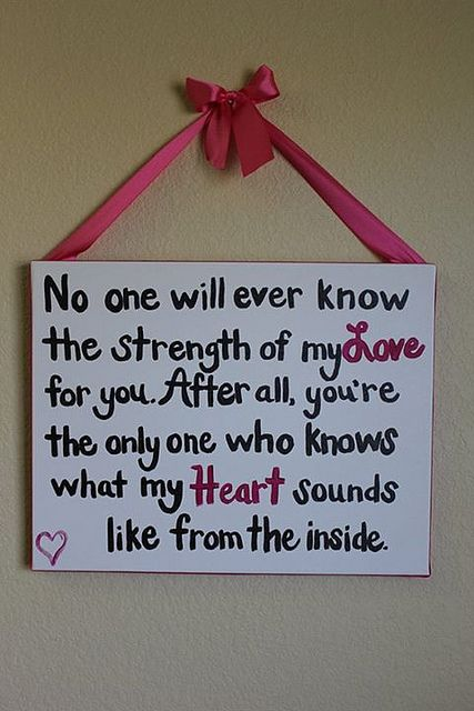 No One Will Ever Know The Strength Of My Love For You Facebook Http On Fb Me Y86ubd Google Http Bit Ly 10l37o8 Twitter Http Bit Ly Y86tgb Quotes Say Baby Girl Nursery Decor Heart Sounds Words
